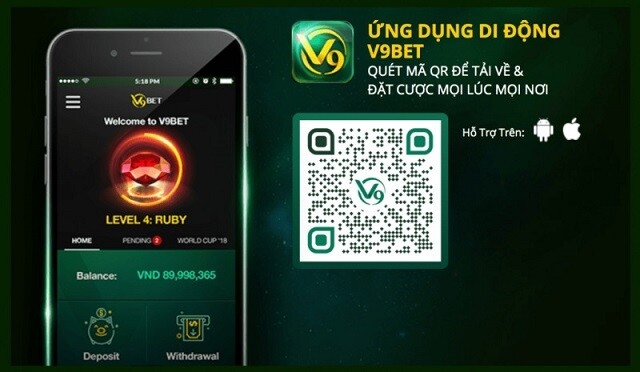 App V9bet Mang Lai Nhung Trai Nghiem Ca Cuoc Vo Cung Tuyet Voi Va Tien Loi 1