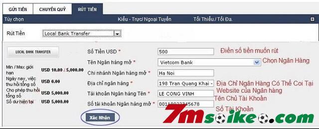 Bieu Mau Rut Tien Tu Nha Cai Ve Ngan Hang