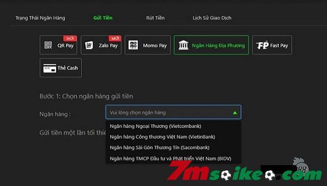 Bieu Mau Xac Nhan Nap Tien Thong Qua Phuong Thuc Ngan Hang Dia Phuong