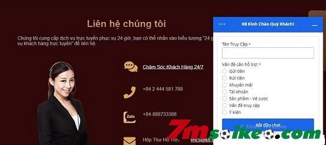 Cac Kenh Lien He Cham Soc Khach Hang Tai Nha Cai K8