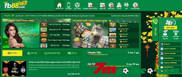 Giao Dien Website Cua Fb88 Chuyen Nghiep Va Hien Dai