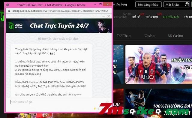 Ho Tro Khach Hang Tai Chat Truc Tuyen Tren Website Nha Cai Jbo
